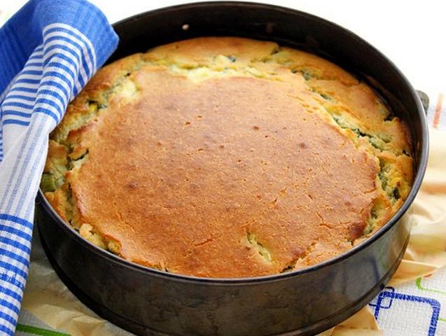 Пирог с яйцом и луком на кефире рецепт